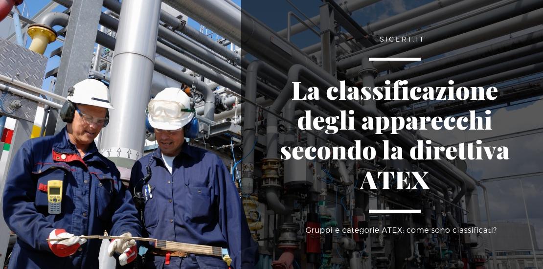 La classificazione degli apparecchi secondo la direttiva ATEX